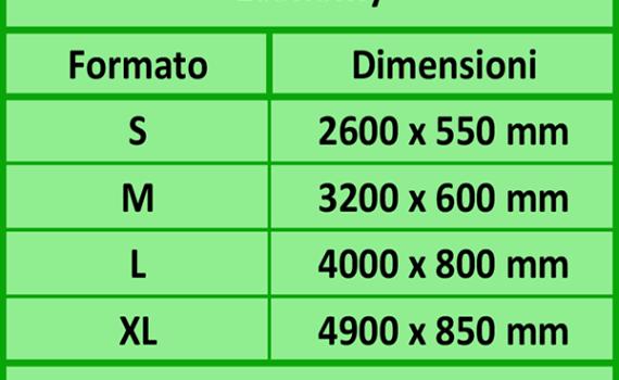 Dimensioni Bandiere a Vela Economy
