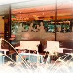 Decorazione vetrina Le Fua cafe