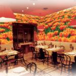 Decorazione murale ristorante