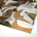 Particolare stampa su cartoncino bronzo metallizzato