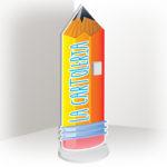 Totem sagomato personalizzato cartoleria