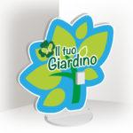 Totem sagomato personalizzato giardino