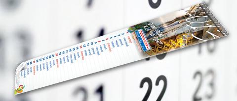Calendario personalizzato 10x44