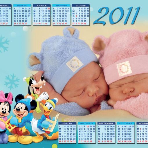 Calendario per i piccoli a pagina singola Topolino