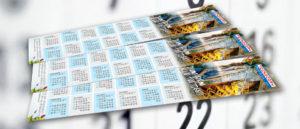 Calendario segnalibro personalizzato