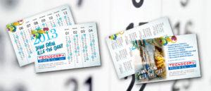 Calendario tascabile personalizzato