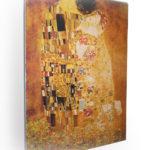 "Pannello intonacato ""Klimt - Il bacio"""