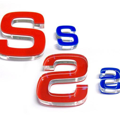 Lettere fresate in plexiglass