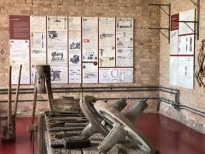 pannelli espositivi all'interno del museo regionale della bonifica di Cà Vendramin