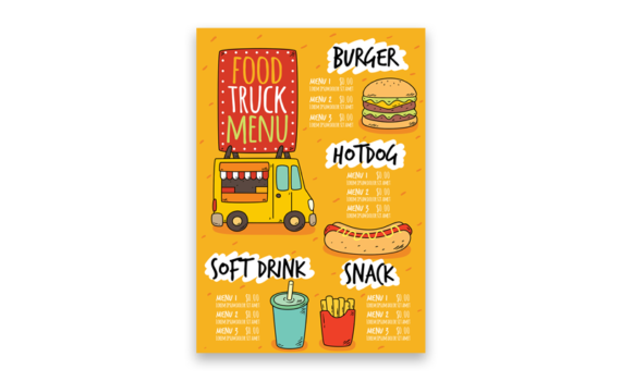 Menu personalizzati per ristoranti, pizzerie e fast-food
